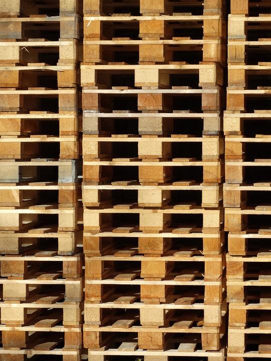 Wooden Pallets, Pallets, Stack, Palettstapel