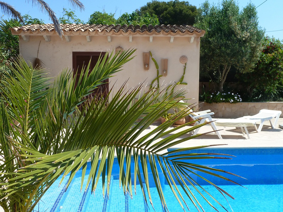 Pool, Finca, Mallorca, Palm