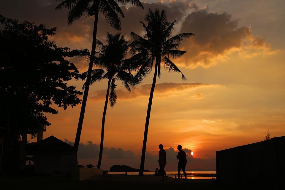 Krabi, Koh Lanta, Thailand, Island, Sunset, Palm Trees