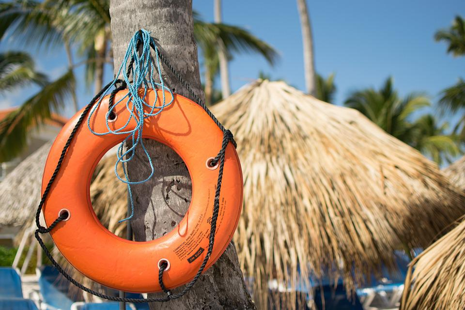 Lifebelt, Lifeguard, Swim, Holiday, Palm Trees