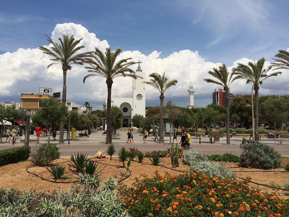Palma, Beach, Palms Church, Sand Beach
