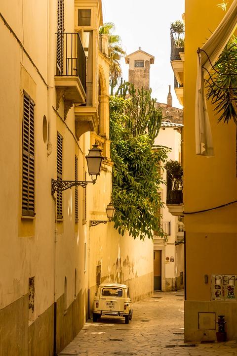 Palma De Mallorca, Alley, Summer, Historic Center
