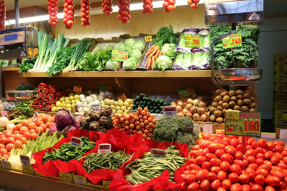 Vegetables, Market Hall, Palma, Palma De Mallorca