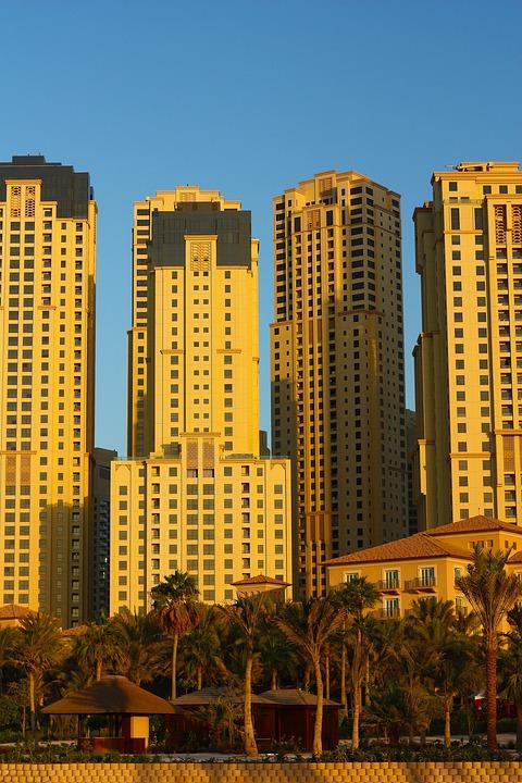 Skyscraper, Skyline, Dubai, Marina, Beach, Palms