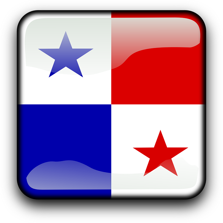 Panama, Flag, Country, Nationality, Square, Button