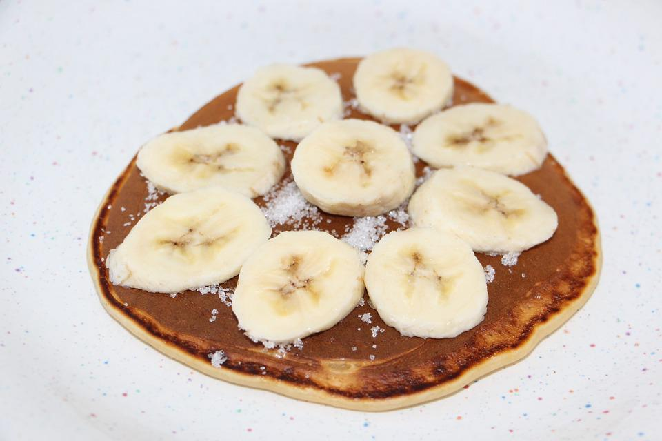 Pancake, Crepe, Eat, Food, Banana, Sugar