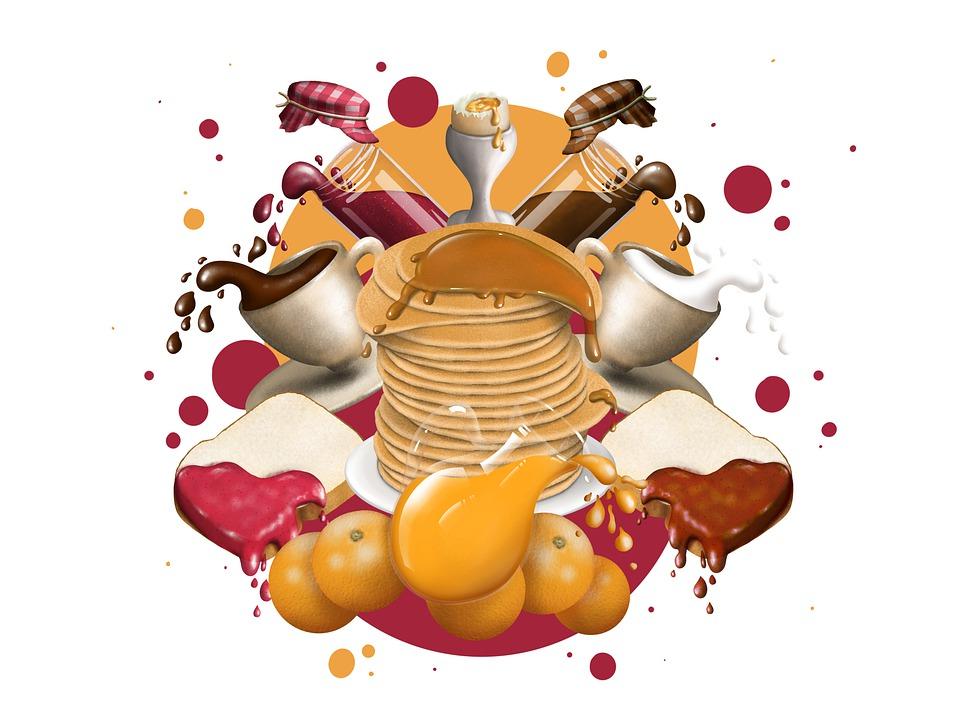 Breakfast, Food, Pancakes, Toast, Coffee, Chocolate