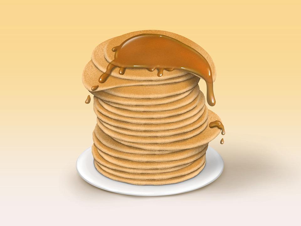 Pancakes, Syrup, Food, Breakfast, Brunch, Dessert