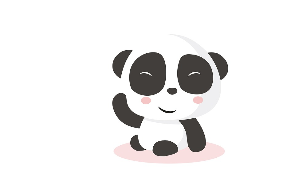 Panda Bear Funny Cute Fictional Character