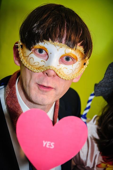 Man, Mask, Portrait, Wedding, Fun, Funny, Panel