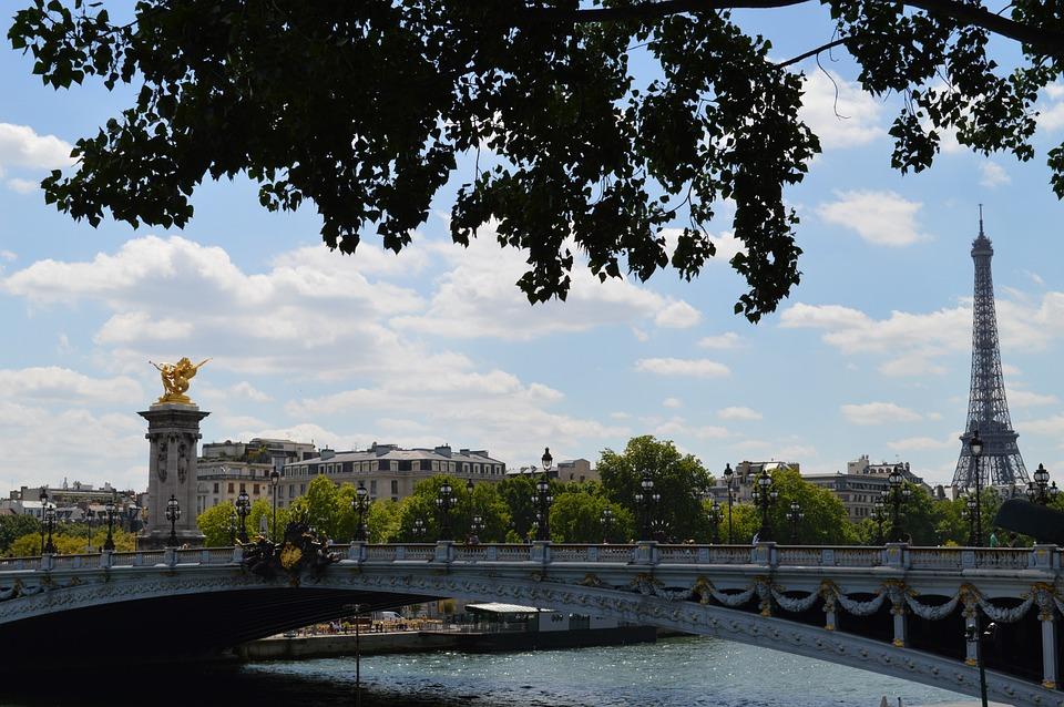 Paris, Alexandre Iii Bridge, Eiffel Tower, Panorama