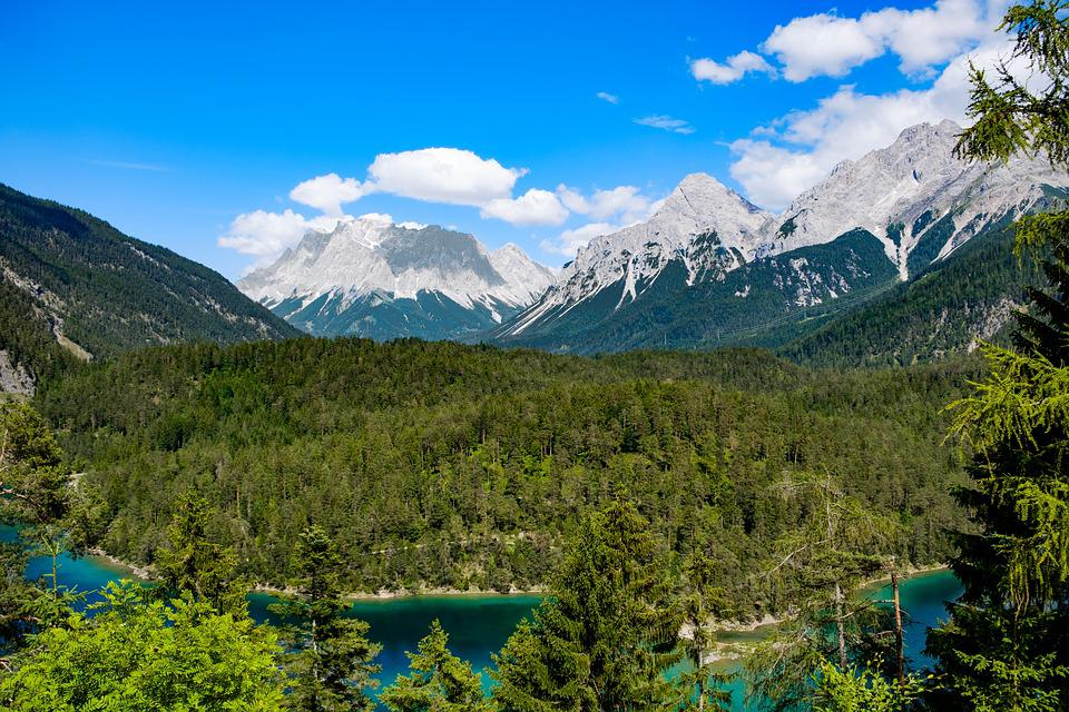 Landscape, Alpine, Mountains, Panorama, Water, River