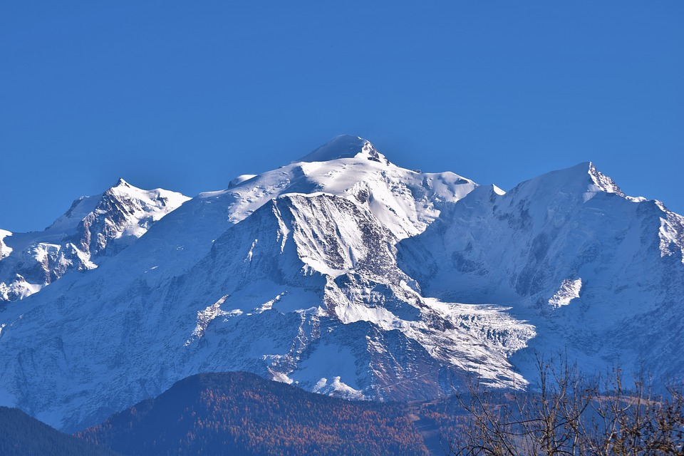 Mont Blanc, Alps, Mountain, Landscape Snow, Panorama
