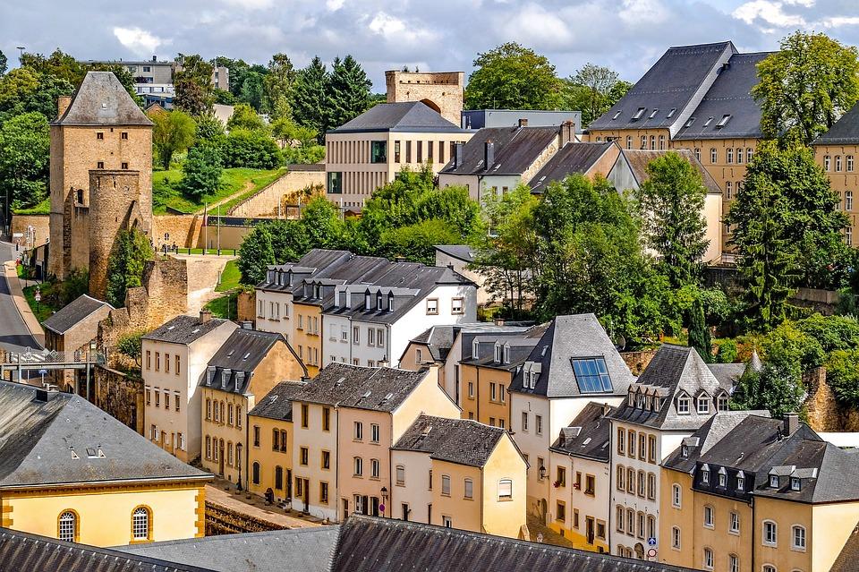 Luxembourg, City, Landscape, Cityscape, Panorama