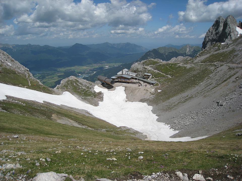 Upper Bavaria, Karwendel, Mittenwald, Clouds, Panorama