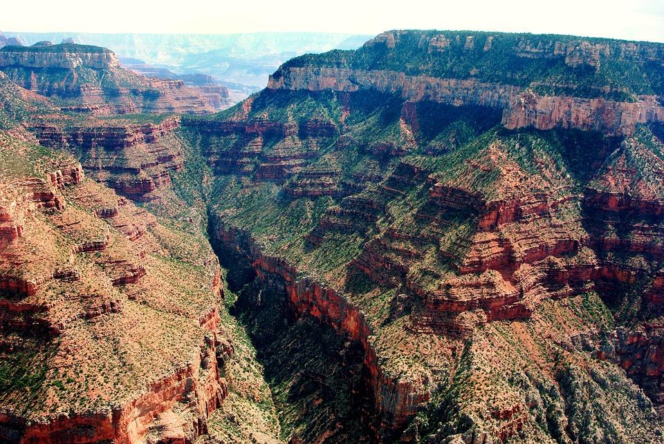 Usa, Grand Canyon, Colorado, Cliffs, Panorama