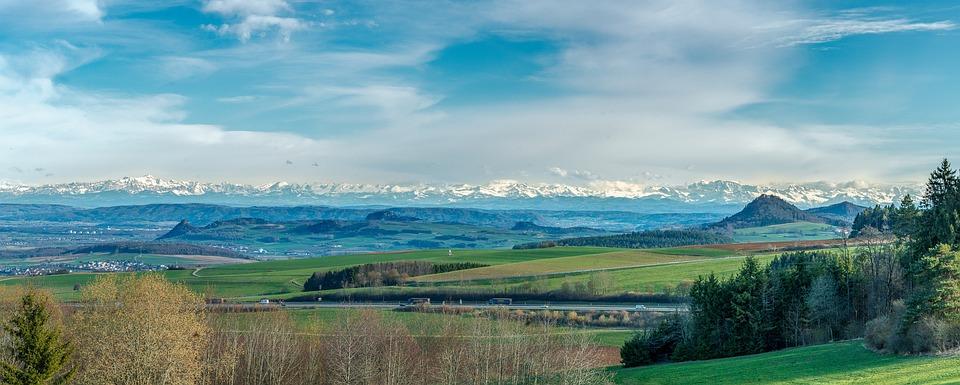 Panorama, Hegau, Hegauer Cone Mountain Country