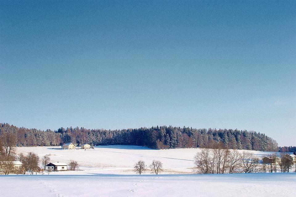 Winter, Landscape, Panorama, Hill, Sauwald, Innviertel