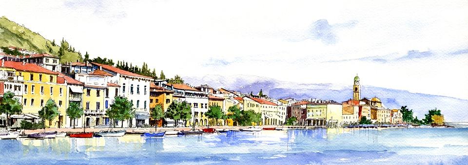 Italy, Panorama, Lake