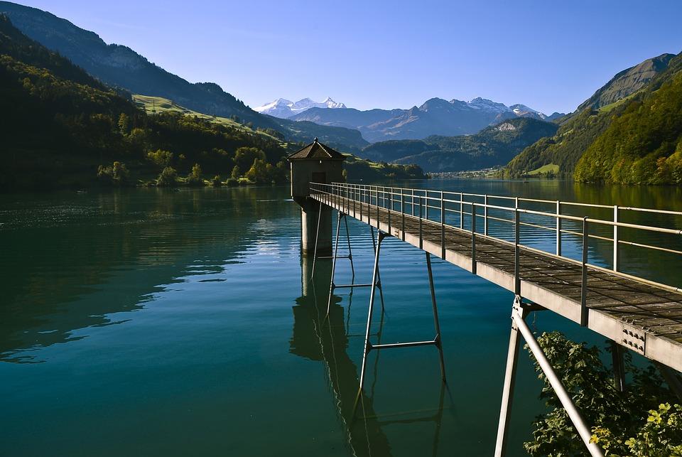 Lake, Panorama, Landscape, Water, Mountains, Waters