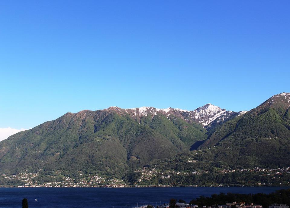 Panorama, Locarno, Lago Maggiore, Raindrop, Mountains