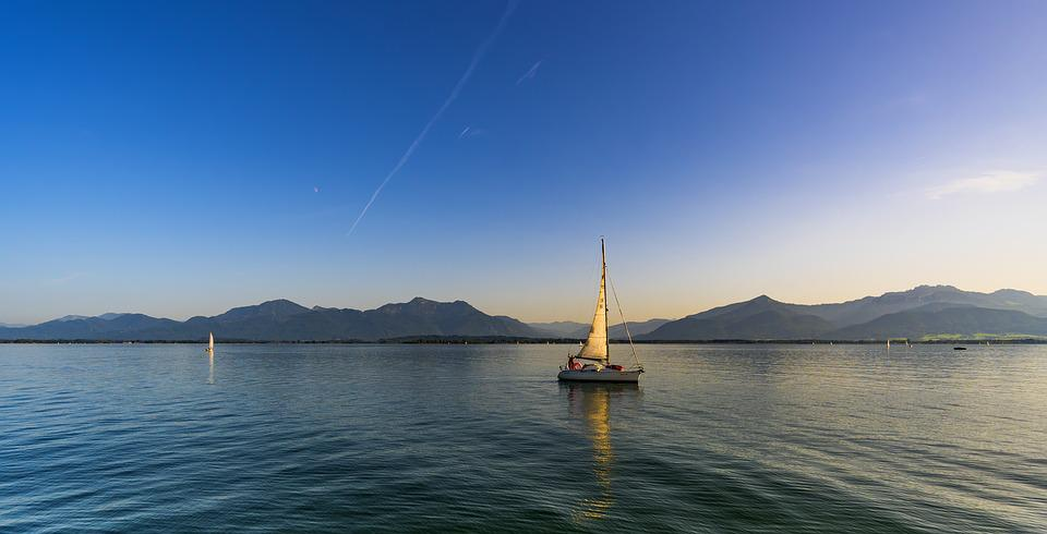 Panorama, Chiemsee, Landscape, Nature, Mountains, Water