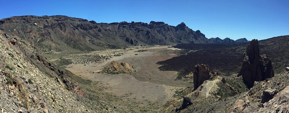 Nature, Landscape, Desert, Panorama, Dry, Teide