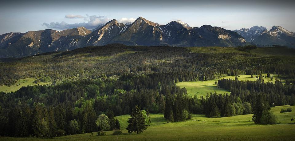 Mountains, Panorama, Podhale, Poland, Tatra Mountains