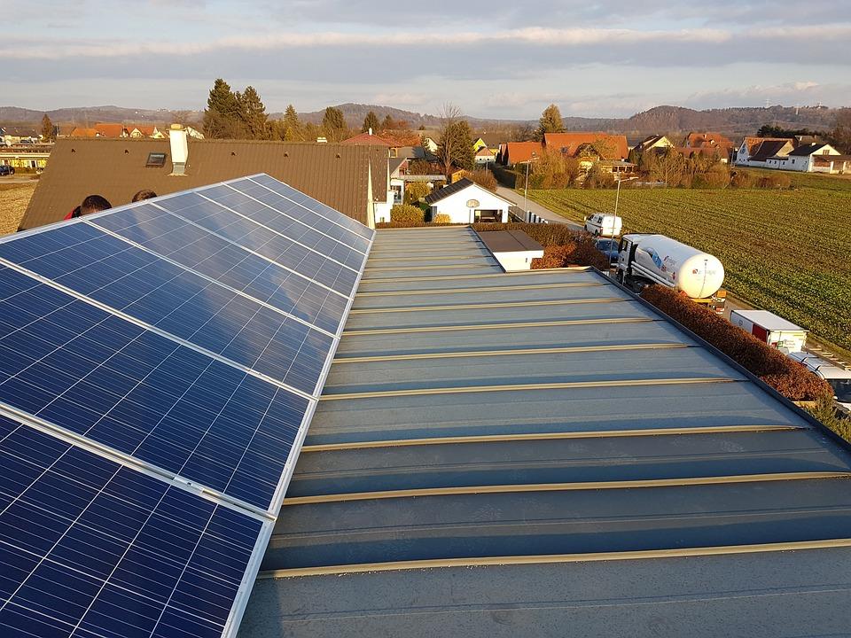 Photovoltaic, Roof, Panorama