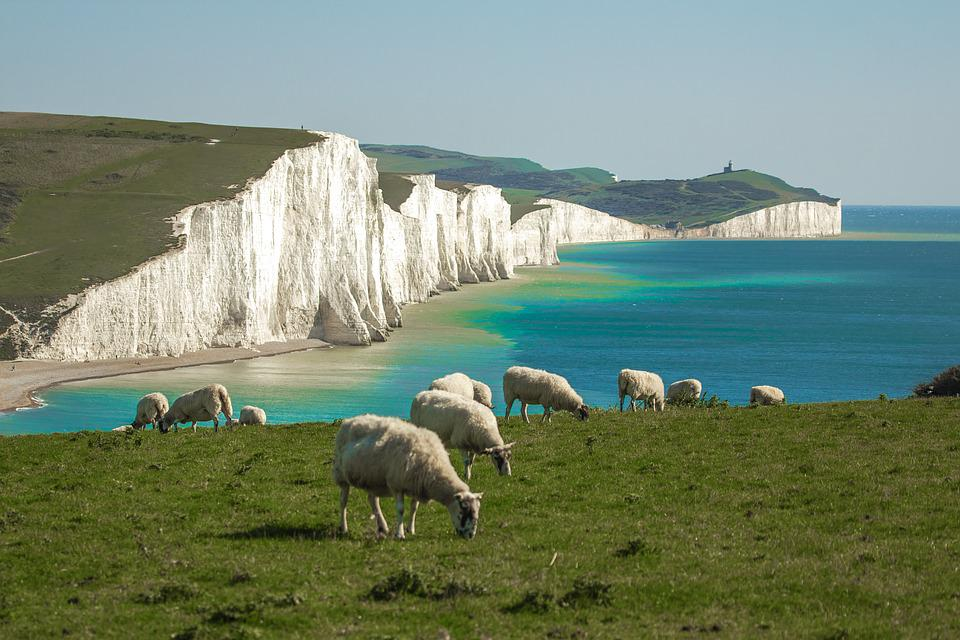 Seven Sisters, Panorama, Sea, Country