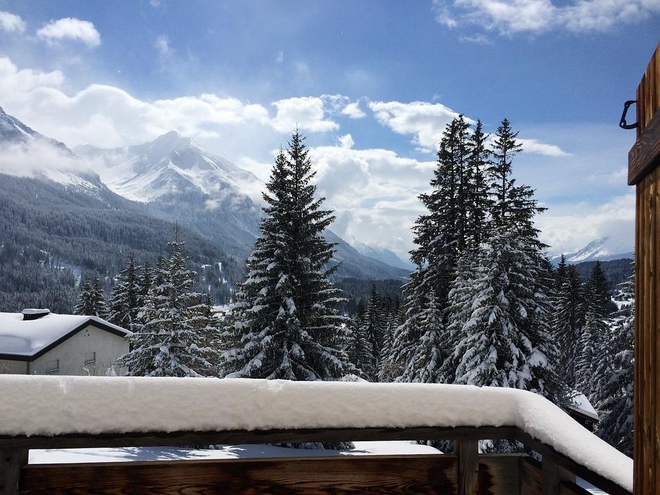 Switzerland, Graubünden, Alpine, Show, Panorama