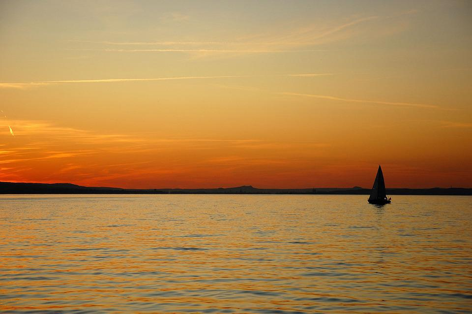 Lake Constance, Water, Dusk, Waters, Panorama, Sky