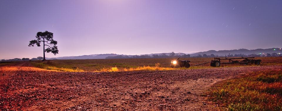 Landscape, Quad, Panorama, Night, Sky, Moon Light