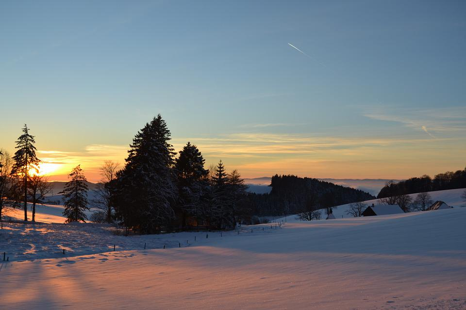 Sunset, Black Forest, Panorama, Lighting, Sky, Sunny