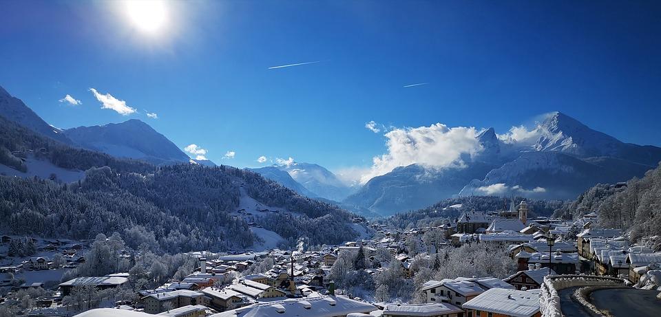 Berchtesgaden, Winter Holiday, Panorama, Snow