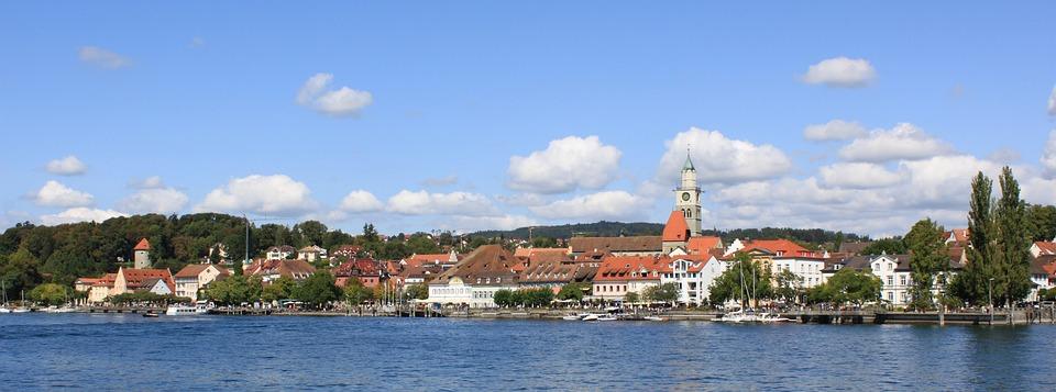 überlingen, Lake Constance, Panorama, Sun, Summer, Sky