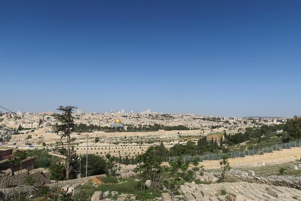 Architecture, Travel, City, Panoramic, Jerusalem