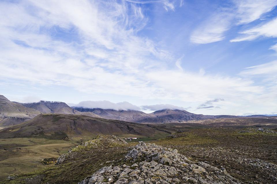 Landscape, Mountain, Nature, Sky, Panoramic, Clouds