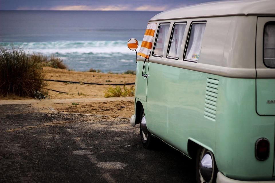 Minibus, Vista, Landscape, Panoramic, Nature