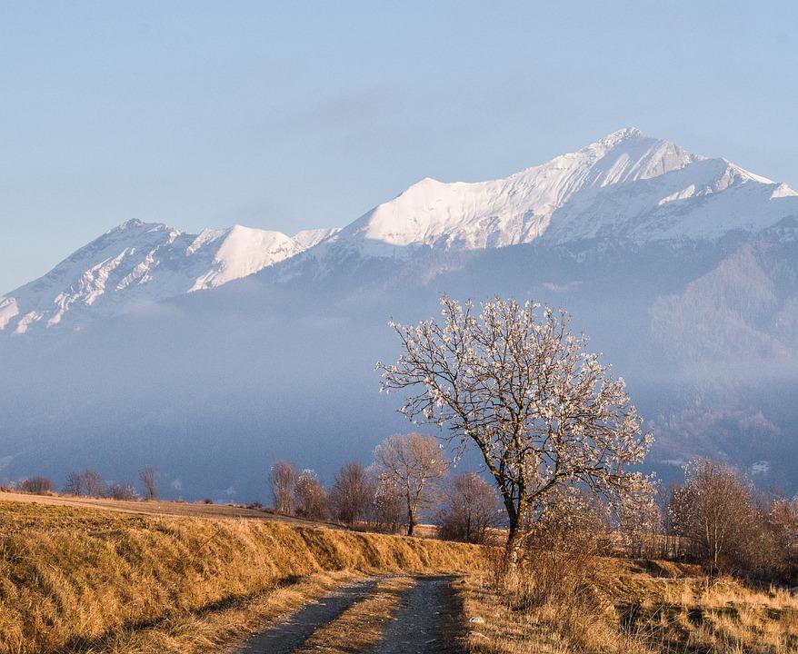 Snow, Mountain, Landscape, Nature, Panoramic, Path