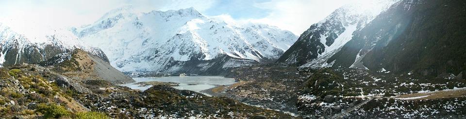 New Zealand, Landscape, Mountain, Panoramic