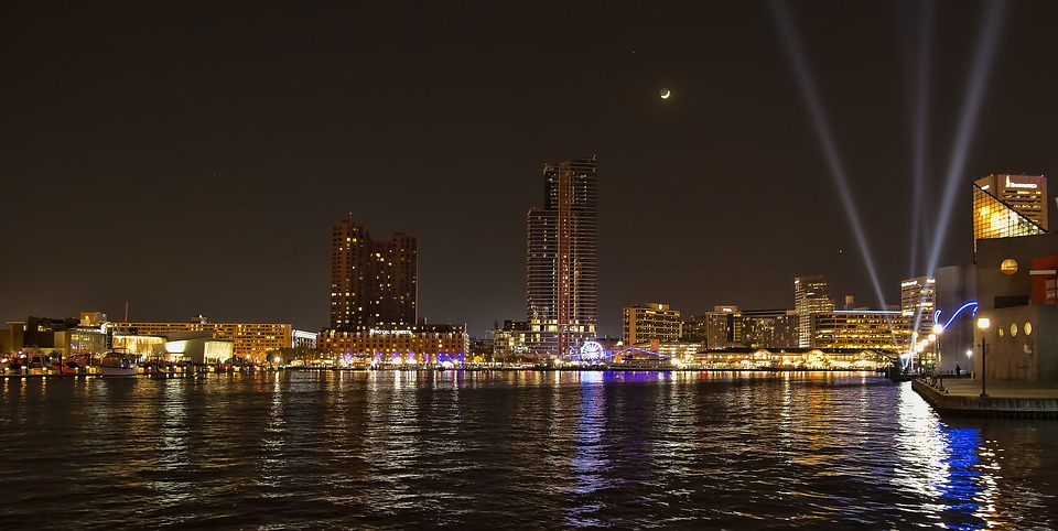 City, Water, Cityscape, River, Panoramic, Baltimore