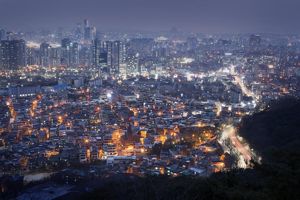 Panoramic, City, Cityscape, Travel, Town, Seoul, Korea