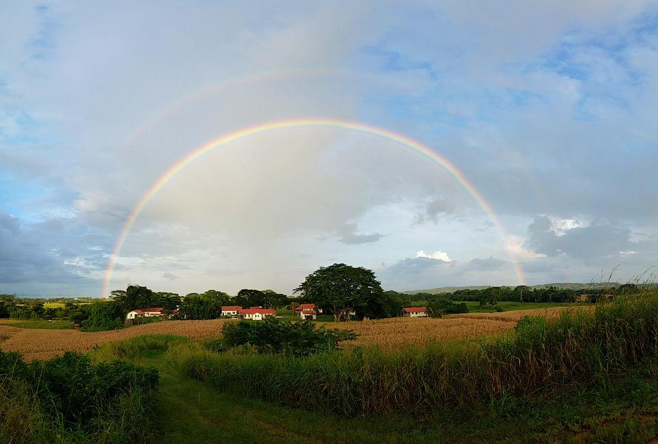 Rainbow, Panoramic, Sky, Nature, Tropical, Landscape