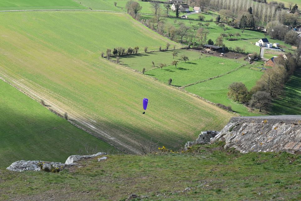 Panoramic Views, Plain, Fields Landing Paragliding