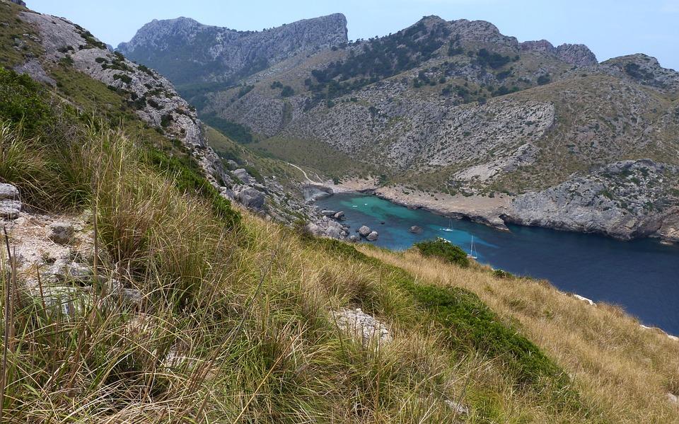 Bay, Mallorca, Rock, Mountains, Spain, Panoramic Views