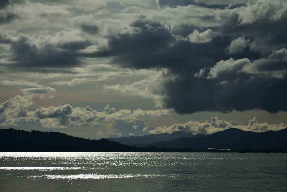 Natsepa Beach, Clouds, Sea, Amboina, Water, Panoramic