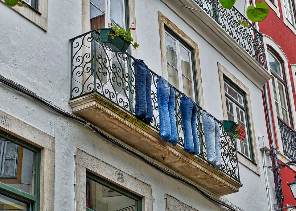 Pants, Decoration, Funny, Balcony, Clothing, Jeans