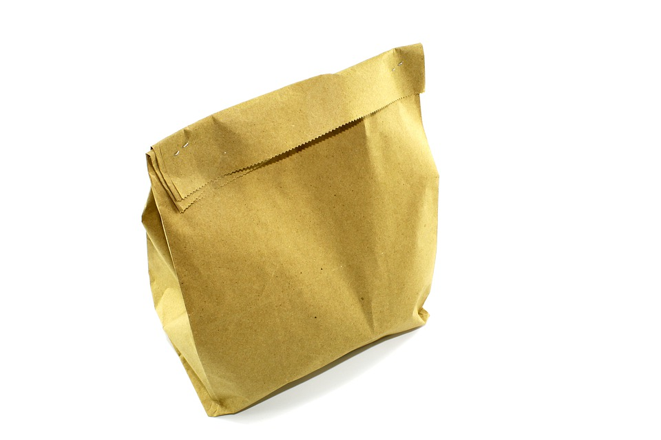 Paper Bag, Bag Of Groceries, The Closed Package