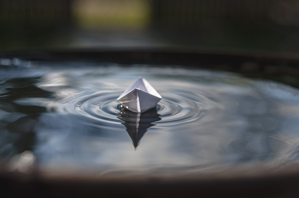 Paper Boat, Water, Floats, Wave, Paper, Toy, Ship